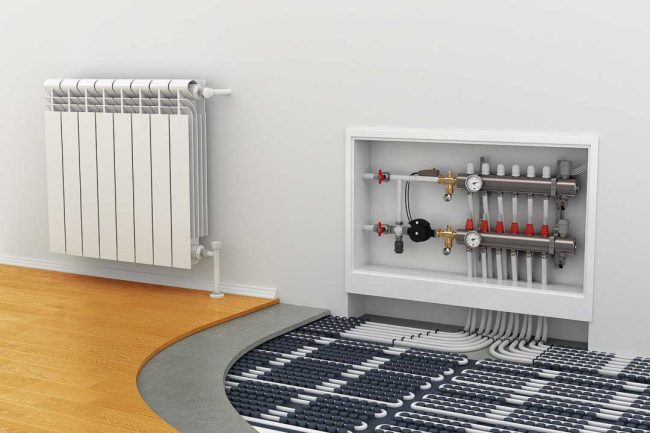 Underfloor Heating manifold