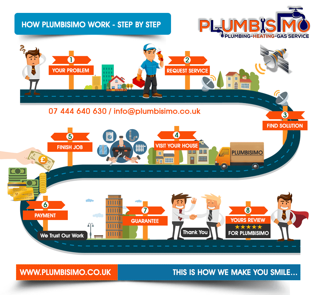 Infographic HOW PLUMBISIMO WORKS