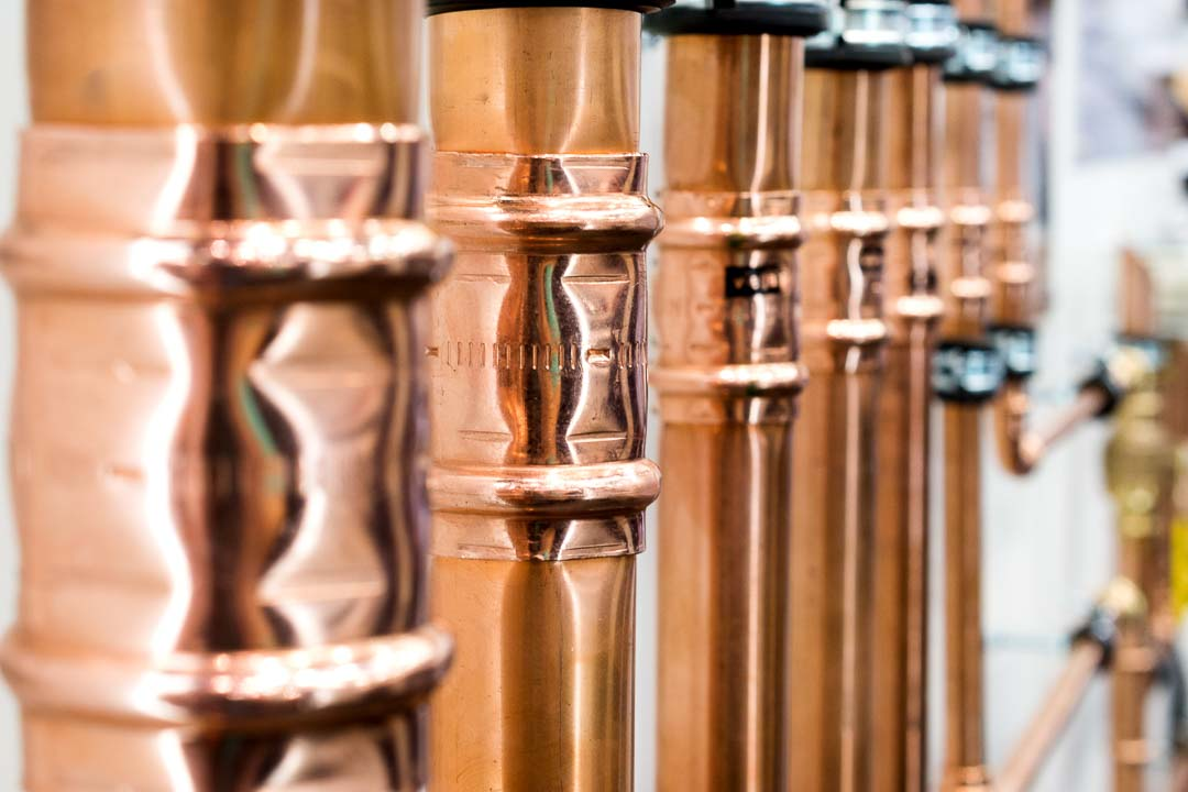 Copper pipework